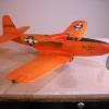 Tom Arnold sends us his P-63 in the Pinball orange scheme. From a PT Aviation kit.