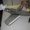 "Another view of Tom's P-39. Prop is a repitched 8"" Peck prop with a ramp freewheeler swung by 3 loops of 1/8"" with a hook to peg length of about 2X."